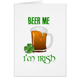 Tarjeta Cerveza yo soy irlandés
