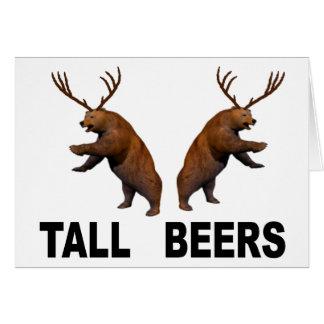 Tarjeta Cervezas altas