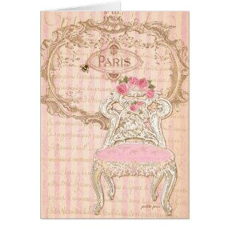 Tarjeta Chair de París París Royal Pink de la Queen's