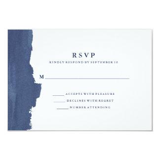 Tarjeta Chapoteo moderno minimalista RSVP de la acuarela