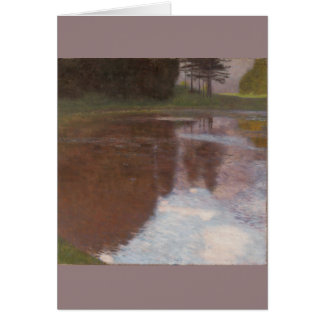 Tarjeta Charca tranquila Gustavo Klimt