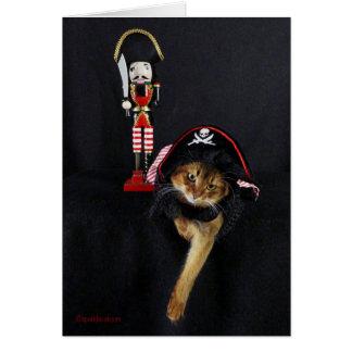 Tarjeta Charla como un gato somalí del día del pirata