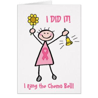 Tarjeta Chemo Bell - cáncer de pecho rosado de la cinta