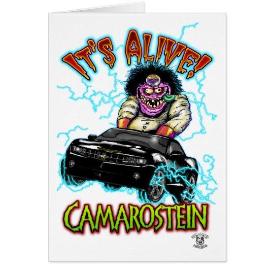 Tarjeta Chevy Camaro SS negros