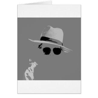 Tarjeta Chica con el gorra y las sombras