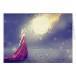 Tarjeta Chica contra un meteorito