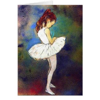 Tarjeta Chica de la bailarina