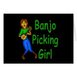 Tarjeta Chica de la cosecha del banjo