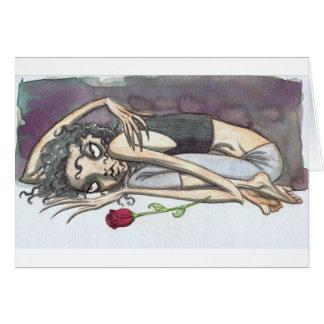 Tarjeta Chica del gótico con el rosa