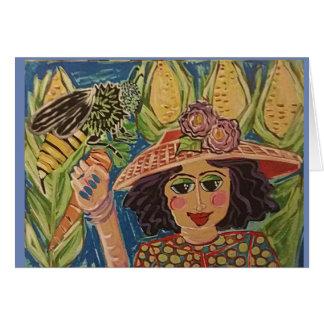 Tarjeta Chica del granjero