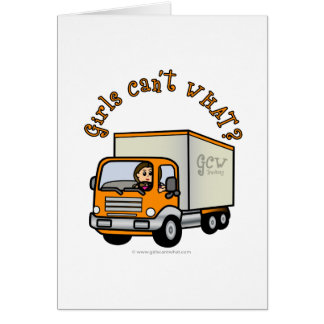 Tarjeta Chica ligero del camionero