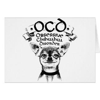 Tarjeta Chihuahua obsesiva de OCD
