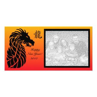 Tarjeta china de la foto del dragón del Año Nuevo Tarjetas Con Fotos Personalizadas