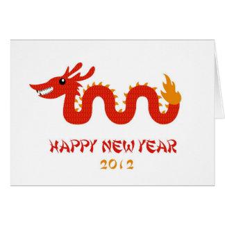 Tarjeta china del Año Nuevo - año del dragón (2012