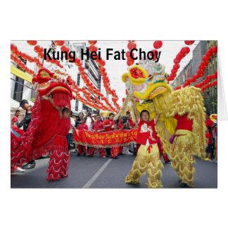 Tarjeta china gorda del Año Nuevo de Kung Hei Choy