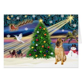 Tarjeta Chino mágico Shar Pei (cervatillo) del navidad