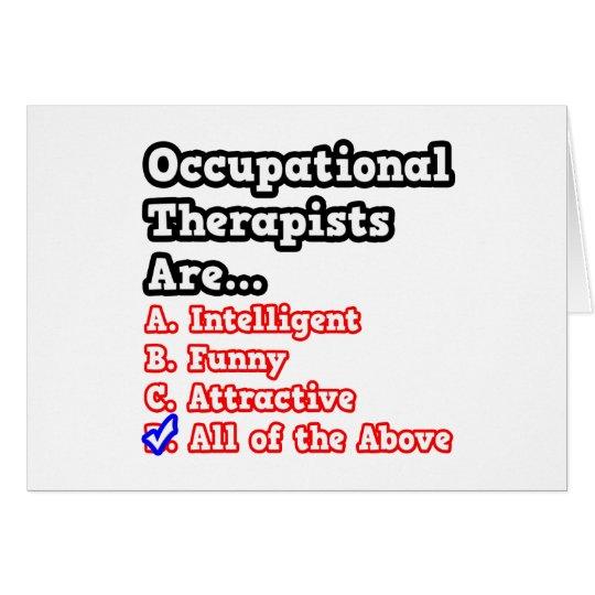 Tarjeta Chiste del concurso del terapeuta profesional…