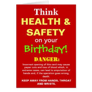 Tarjeta Chiste divertido del cumpleaños de salud y de la