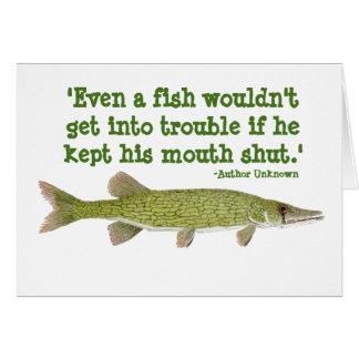 Tarjeta chistosa de la pesca