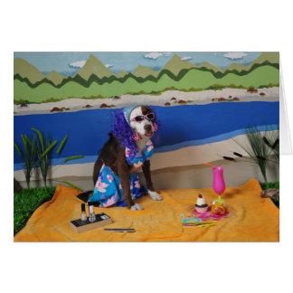 tarjeta chistosa del día de madre, foto del perro