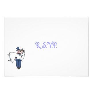 Tarjeta chistosa linda de RSVP del dibujo animado  Comunicado Personalizado