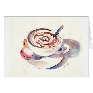 Tarjeta Chocolate caliente de París