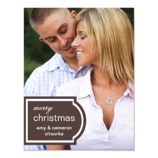 Tarjeta-chocolate marcado con etiqueta del navidad invitaciones personales