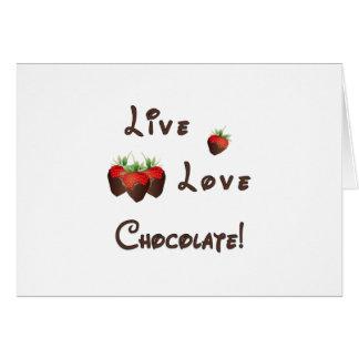 Tarjeta Chocolate vivo del amor