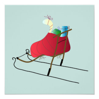 Tarjeta Christmas Card Kick Sled