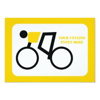 Tarjeta Ciclista que monta su personalizado de la