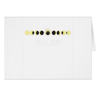 Tarjeta Ciclo total del eclipse solar