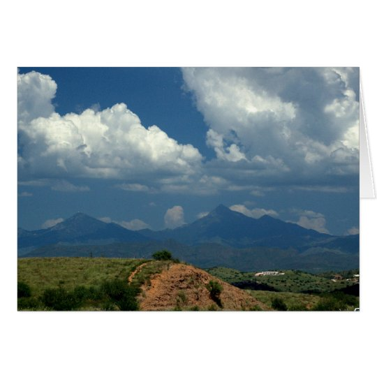 Tarjeta Cielo de Arizona sobre las montañas de Santa Rita