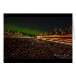 Tarjeta Cielos nocturnos - aurora boreal