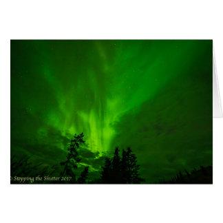 Tarjeta Cielos nocturnos - aurora boreal II