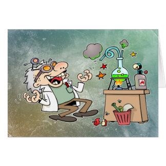 Tarjeta Científico enojado