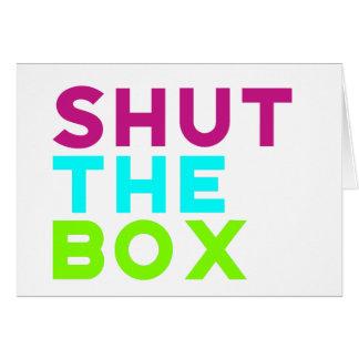 Tarjeta Cierre el logotipo de la caja