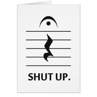 Tarjeta Cierre para arriba por la notación de música