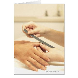 Tarjeta Ciérrese para arriba de manicura