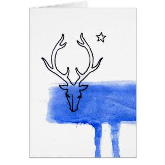 Tarjeta Ciervos de la luna azul