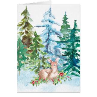 Tarjeta Ciervos del invierno