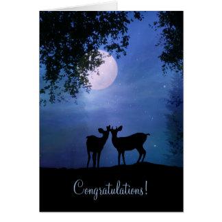 Tarjeta Ciervos lindos en la enhorabuena del boda del