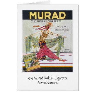 Tarjeta Cigarrillos del turco de Murad