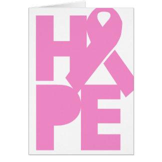 Tarjeta Cinta rosada de la esperanza