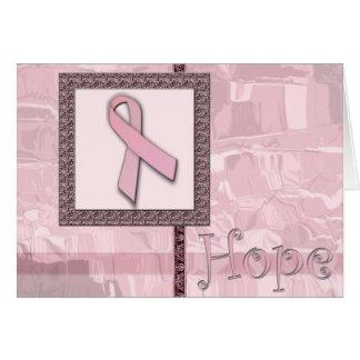 Tarjeta Cinta rosada - esperanza