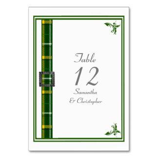 Tarjeta Cinta verde y blanca del tartán