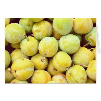 Tarjeta Ciruelos amarillos macros