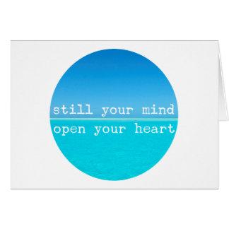 Tarjeta Cita atenta de la meditación: Todavía mente,