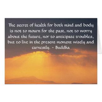 Tarjeta Cita budista hermosa con la foto inspirada