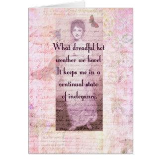 Tarjeta Cita chistosa de Jane Austen
