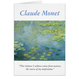 Tarjeta Cita creativa del artista de Monet con Waterlilies
